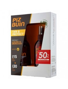 PIZ BUIN TAN & PROTECT PACK ACEITE SPF15+SPF 30